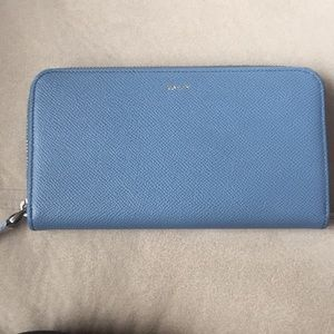 Bally Morissa-LG Glacier Blue Calf Zippy Wallet